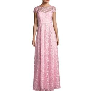 Karl Lagerfeld pink floral embroidered Gown dress